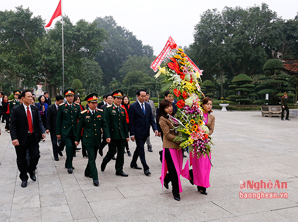 President Tran Dai Quang pays Tet visit to Nghe An province