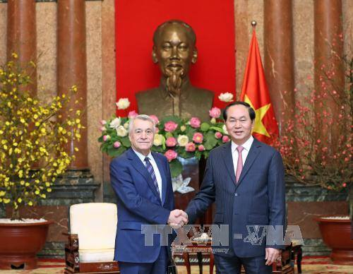 President Tran Dai Quang receives Azerbaijan Energy Minister