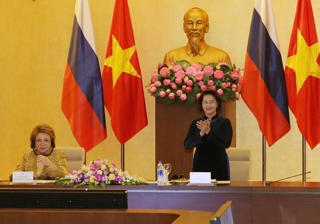 Vietnam-Russia talk on strengthening cooperation between localities