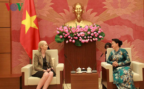 NA Chairwoman Nguyen Thi Kim Ngan receives Ambassadors of Norway and the Czech Republic