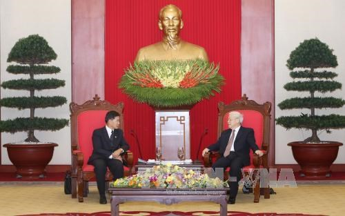 Vietnamese leaders host Vientiane Mayor