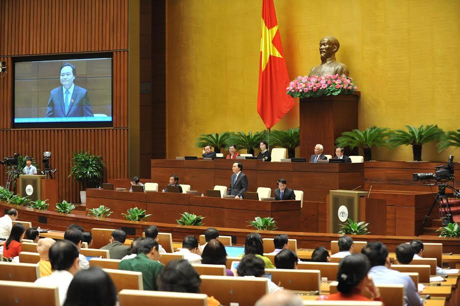 Quốc hội chất vấn Bộ trưởng Bộ giáo dục và đào tạo Phùng Xuân Nhạ