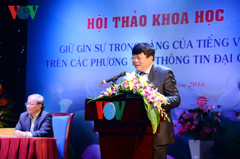 VOV berupaya menjaga dan mengembangkan nilai bahasa Vietnam