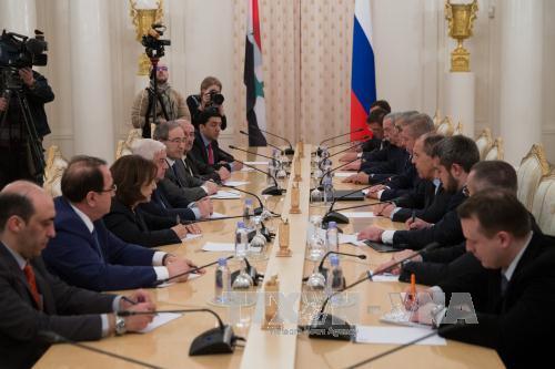 Menlu Rusia, Iran dan Suriah mengadakan perbahasan tentang masalah Suriah