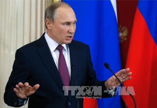 Putin blasts fake allegations against Trump