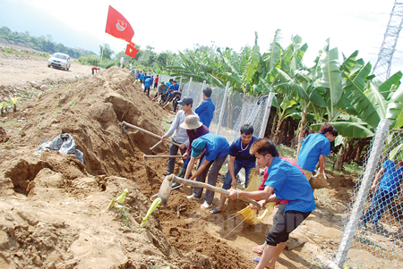 "Kaum remaja provinsi Yen Bai berpadu tenaga membangun pedesaan baru"""