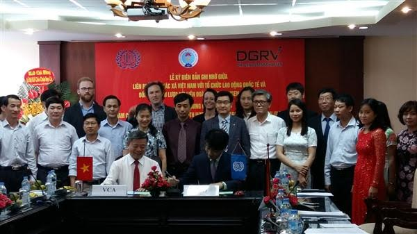 ILOなど、ベトナム協同組合連盟を支援