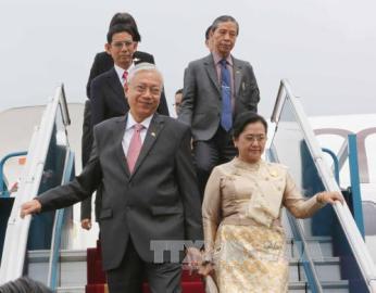 ミャンマー大統領 ベトナム国賓訪問を開始