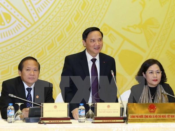 Sidang pleno pertama Komisi Hukum MN Vietnam angkatan ke-14