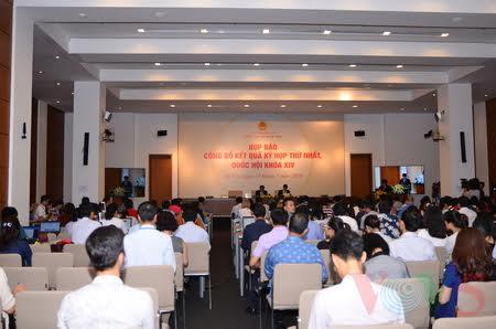 越南第十四届国会第一次会议成果发布会举行