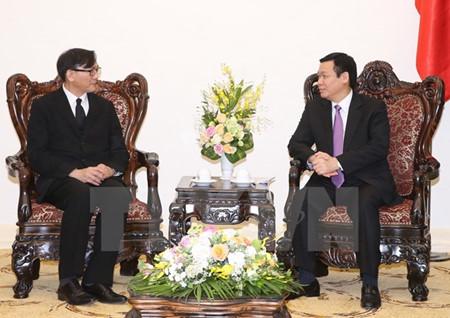 越南政府副总理王庭惠会见泰国驻越大使马诺猜