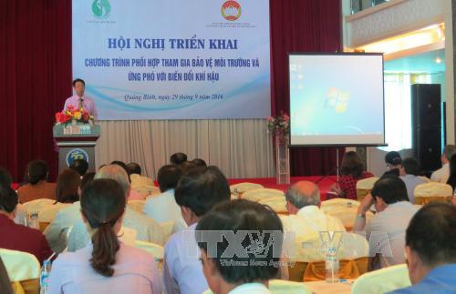 越南中北部各省开展配合参与保护环境和应对气候变化计划
