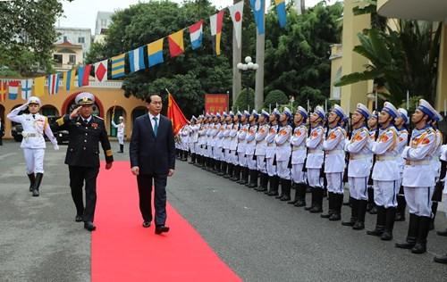 Staatspräsident Tran Dai Quang besucht Haiphong