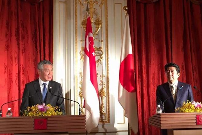 Pimpinan Jepang-Singapura mengadakan pembicaraan untuk memperkuat hubungan bilateral