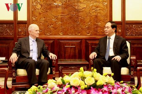 Presiden Tran Dai Quang menerima profesor Universitas Brown – AS