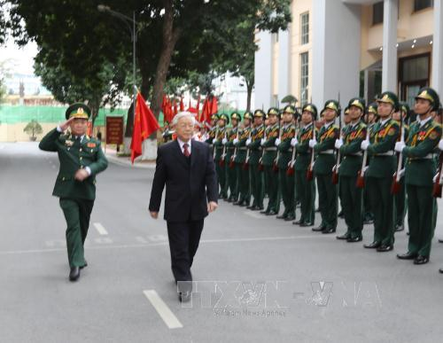 Party leader pays New Year visit to Border Guard High Command