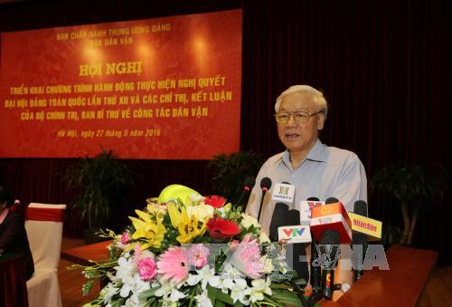 Konferensi penggelaran Resolusi Kongres Nasional ke-12  PKV tentang pekerjaan penggerakan massa rakyat