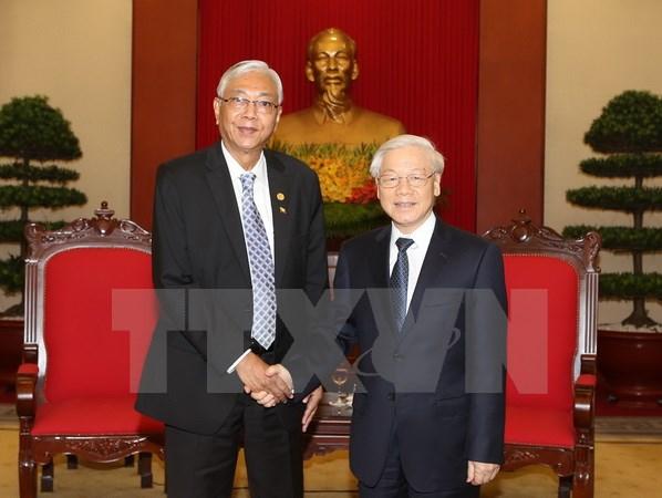 Presiden Myanmar mengakhiri dengan baik kunjungan Kenegaraan di Vietnam