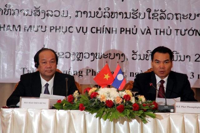 Kantor Pemerintah Vietnam dan Kantor PM Laos memperkuat kerjasama