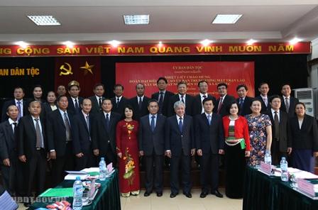 Tăng cường hợp tác công tác dân tộc giữa Việt Nam-Lào