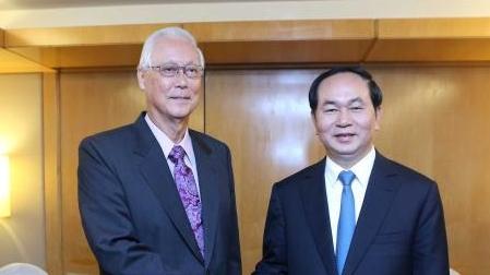 Chủ tịch nước Trần Đại Quang kết thúc chuyến thăm cấp Nhà nước tới Cộng hòa Singapore