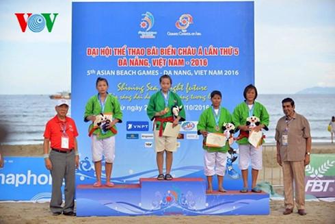 Đại hội Thể thao bãi biển châu Á lần thứ 5: Đoàn Việt Nam giành thêm 5 huy chương Vàng