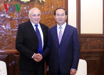 Chủ tịch nước Trần Đại Quang: Đẩy mạnh hợp tác công nghệ cao Việt Nam - Israel