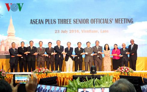 Senior Officials' Meetings of ASEAN +3, East Asia open in Laos