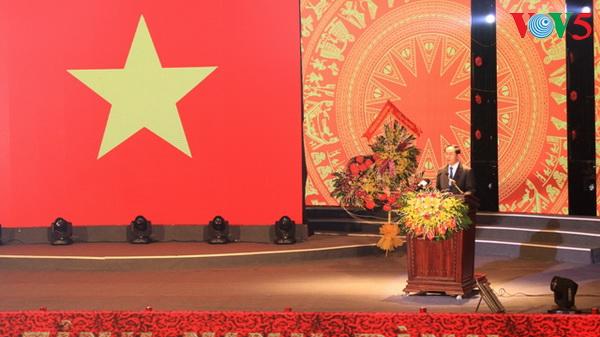 Staatspräsident nimmt an Feier zum 25. Jahrestag zur Wiedergründung der Provinz Ninh Binh teil