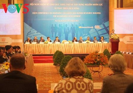 Conférence de l'ASEM sur l'éducation et la formation des ressources humaines