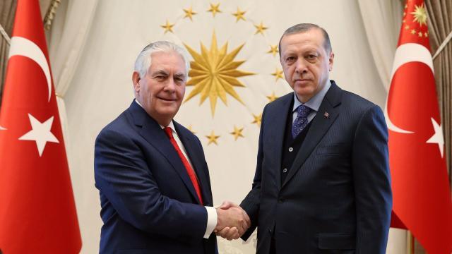 Le secrétaire d'Etat américain en visite en Turquie