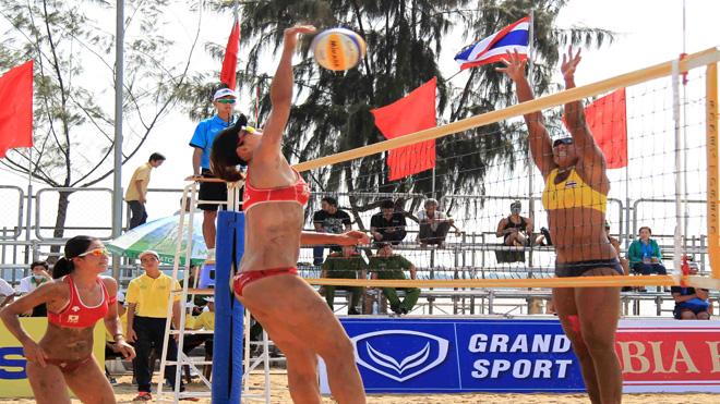 Can Tho : tournoi du volley-ball de plage féminin d'Asie 2017