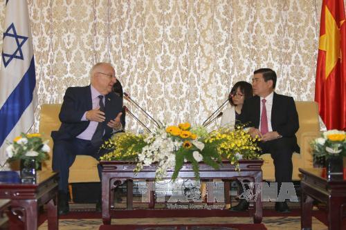 Le président israélien à Ho Chi Minh-ville