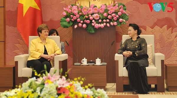 Nguyen Thi Kim Ngan reçoit la directrice générale de la Banque mondiale