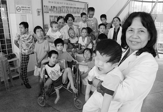 旅法越南人声援越南橙剂受害者