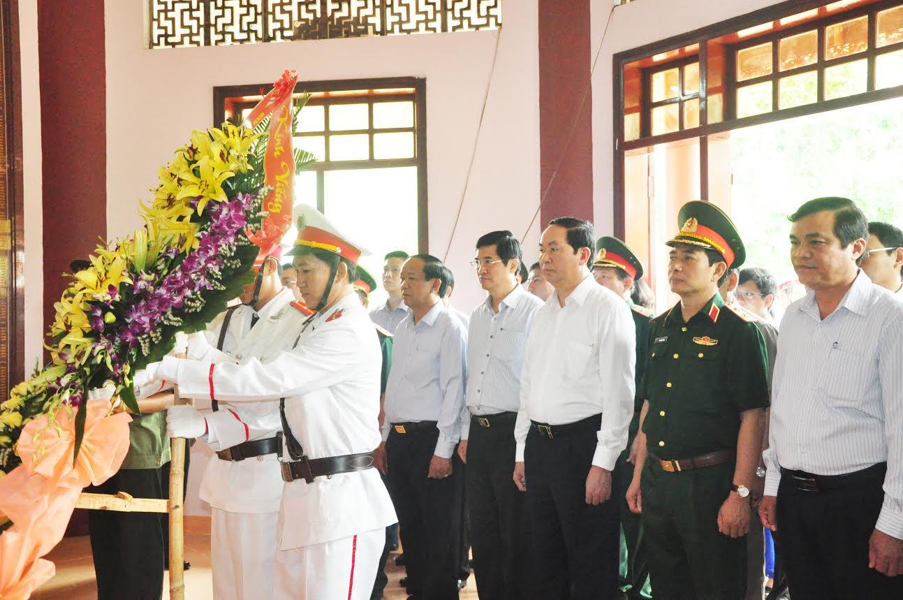 Chủ tịch nước Trần Đại Quang thăm tỉnh Quảng Nam