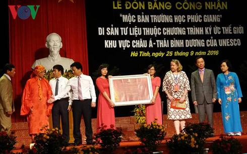 Phuc Giang school woodblocks becomes Documentary Heritage