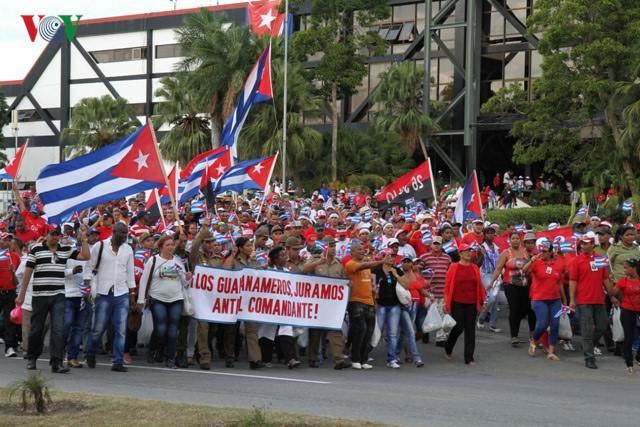 The memorial service of Cuban leader Fidel Castro