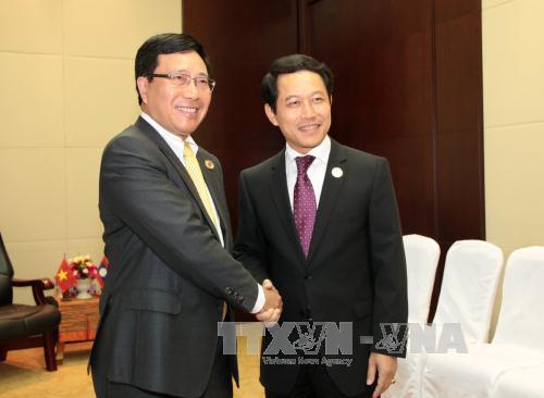 Aktivitas Deputi PM, Menlu Vietnam, Pham Binh Minh di Laos