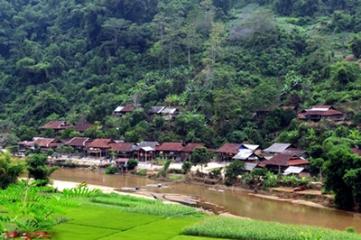 ホームスティ業を営むハックカン省ハックコイ村 hinh 0