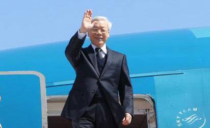 チョン党書記長、中国公式訪問を開始 hinh 0