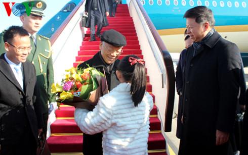 チョン党書記長、中国に到着 hinh 0