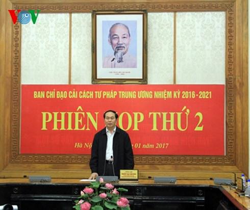 presiden tran dai quang memimpin sidang ke-2 badan pengarahan reformasi hukum pusat hinh 0