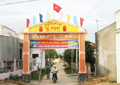 Cham ethnic group in Phuoc Hau develops new rural areas Village life