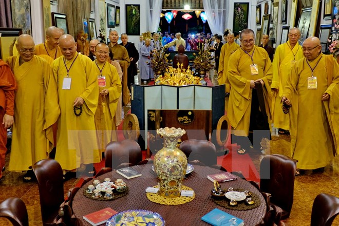 VFF President congratulates Vietnam Buddhist Shangha on 35th founding anniversary