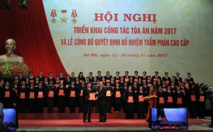 裁判部門の2017年の任務を定める会議 hinh 0