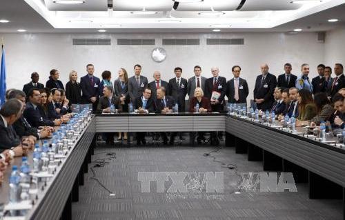 関係国か安全保障を協議=国連仲介のキフロス再統合交渉 hinh 0