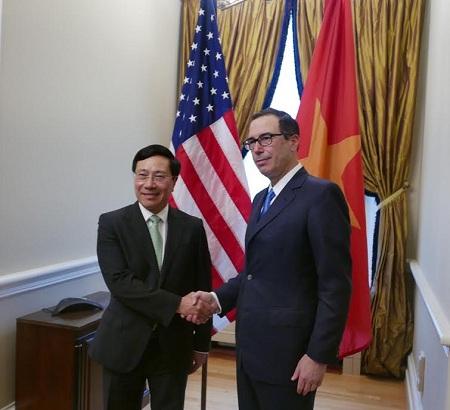 ミン副首相兼外相、アメリカを訪問 hinh 0
