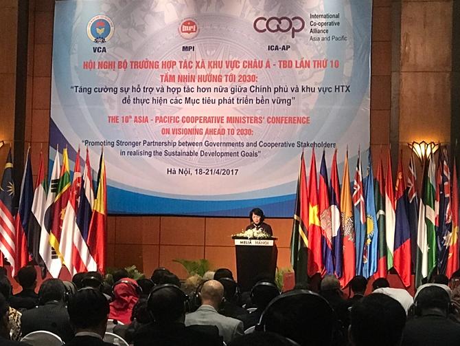 第十届亚太地区政府合作社部长会议在河内开幕 hinh 0