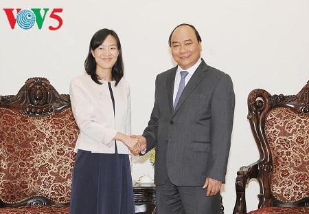 阮春福会见中国台湾宝成国际集团执行长蔡佩君 hinh 0